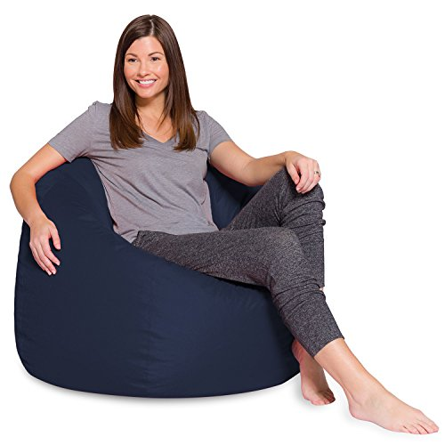 Posh Beanbags Amz 35 Nvy Bean Bag Chair 35in Solid Navy Blue