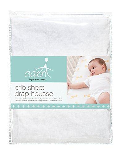 aden + anais Crib Sheet, Solid White