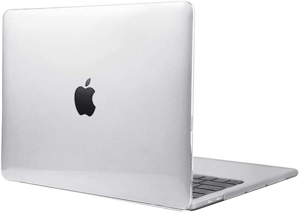 Hard Shell Case for 2020 Newest Apple MacBook Pro 13 Inch Apple M1 Chip (Release A2338) and 2020-2016 MacBook Pro 13'' (Model A2289/A1706/A1989/A2251/A2159) Clear Laptop Protector Case (Clear)