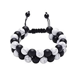 Selling point:Hand-woven adjustable sizeBeads size: 8 mmMATERIAL: VOLANIC ROCK/Natural stoneGender:Men or WomenChain Type:Rope ChainvLength:7-7.5INCH7 Chakra Balance Healing,can reverse the people's misery and of bad luck,It brings good luck ...