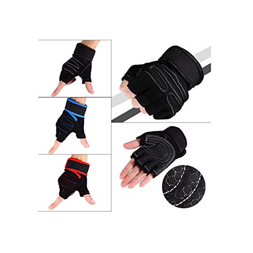 Voic-A Weight Lifting Gloves Sport Training Bodybuilding Heavyweight Workout Wrist Wrap Exercise Gloves