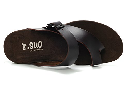 Dqq Mens Mode Läderrem Strap Sandal A