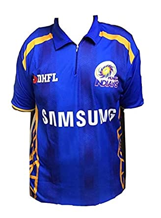 446494a3c Parallel Times Men s and Women s Polyester Mumbai Indians IPL Jersey 2019  (Blue