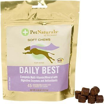 Pet Naturals of Vermont Daily Best for Dogs Chicken Liver -- 45 Soft Chews 6 Pack