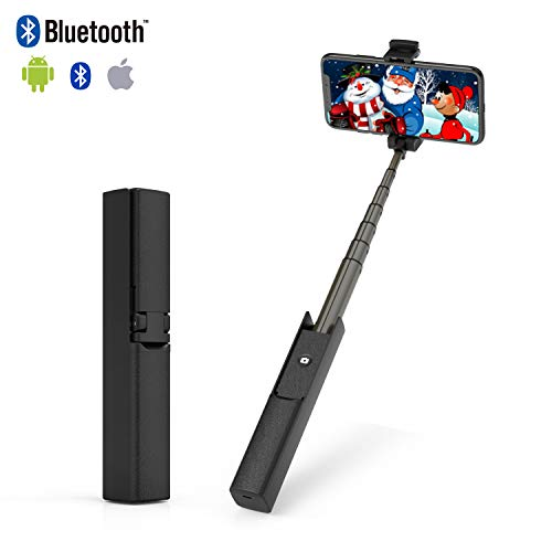 ETROBOT Selfie Stick Bluetooth, Compact Pocket Size All in One Design, Extendable Portable Wireless Selfie Stick for iOS Android