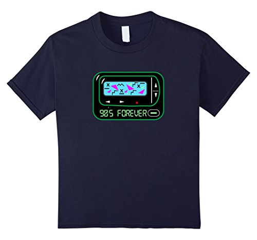 [Kids 90s Forever T-Shirt Retro 1990s Pager Tee-Shirt 12 Navy] (90s Themed Outfits)