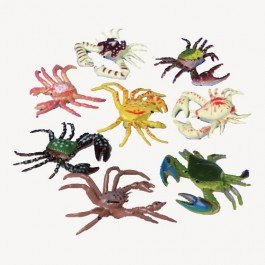 Plastic Toy Crabs Action Figures (2 Dozen) by Nikki's Knick Knacks