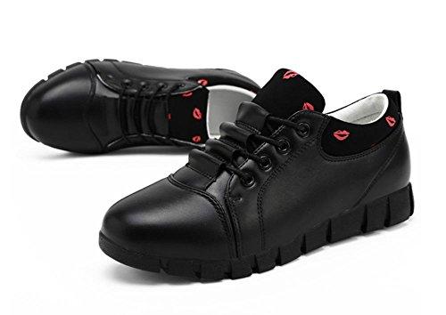 superiori scarpe Scarpe delle femminili pelle autunno signore black in all'interno ww1A0q