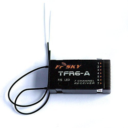 FrSky 2.4ghz 7-Channel Receiver TFR6A Compatible with Futaba FASST System