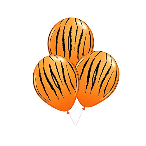 50 Pieces 12inch Animal Tiger Print Latex Balloons Childrens Birthday Farm Animal Theme Party Decoration Supplies (tiger)]()