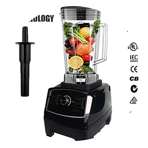 Bpa Free 2200W Heavy Duty Commercial Blender Professional Blender Mixer Food Processor Japan Blade Juicer Ice Smoothie Machine,Black,Uk Plug (Best Smoothie Maker Uk)