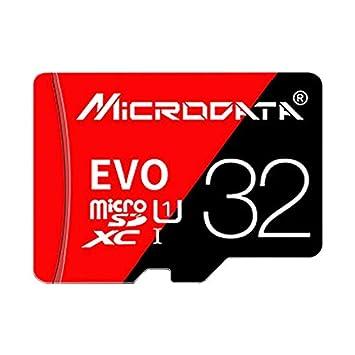 Garmol Tarjeta de Memoria TF (Micro SD) roja y Negra U1 de ...