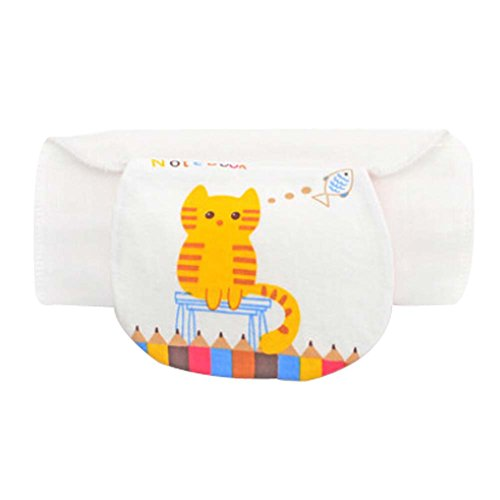 Set of 2 Simple Design Cotton Multi-layer Baby Sweat Absorbent Towels