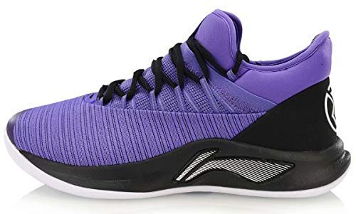 LI-NING Jawun Evans Men Speed V Professional Basketball Shoes Wearable Cushioning Bounce Cloud Sport Shoes Sneakers Purple ABAN051 US 8.5