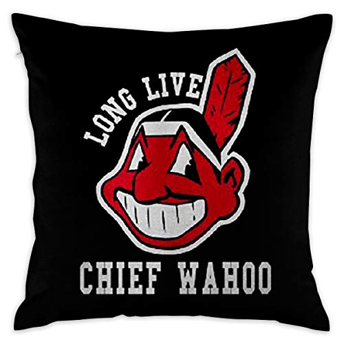 - JERXANYD Long Live Chief Wahoo Pillow Cover Throw Pillow Case Fashion Style Cushion Covers