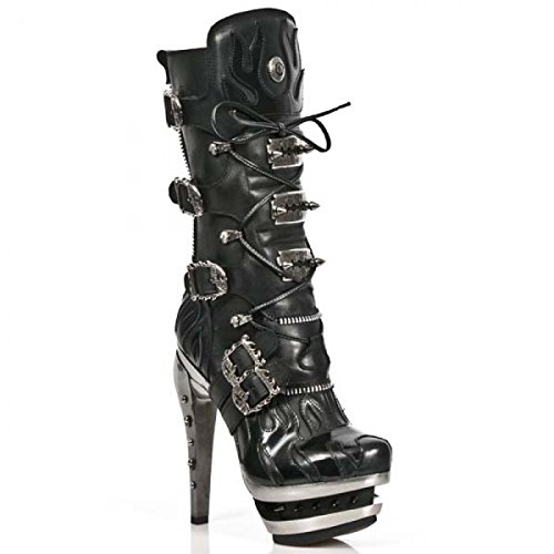 New Rock Boots M.rock202-r10 Gotico Hardrock Punk Damen Stiefel Schwarz