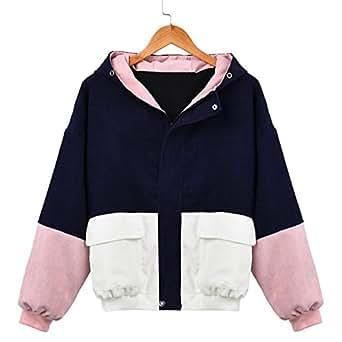 Amazon.com: Desirca Women Long Sleeve Patchwork Sweater