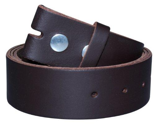 Echt Leder Wechselgürtel | Gürtel für Gürtelschnalle / Buckle in dunkelbraun | Bundweite 110