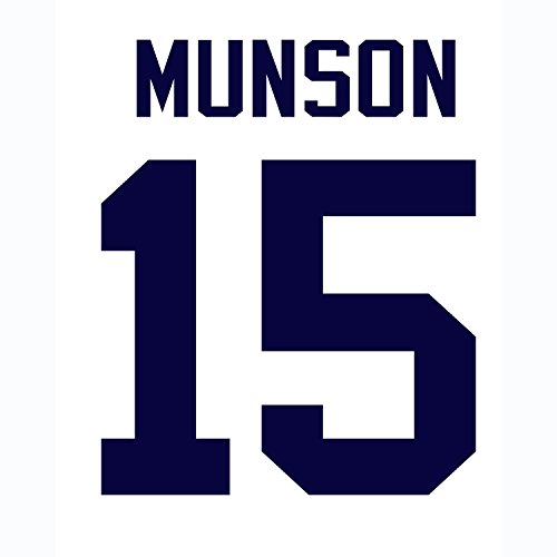 Jersey Pinstripe Field - Thurman Munson New York Yankees Jersey Number Kit, Authentic Home Jersey Any Name or Number Available