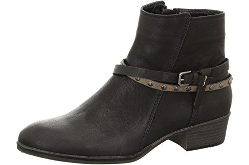 Jenny Ladies Boot ZANDV 22-63907-05 negro / alpaca, tamaño 36-41, ancho de G, talón aproximadamente 3,5 cm, schwarz
