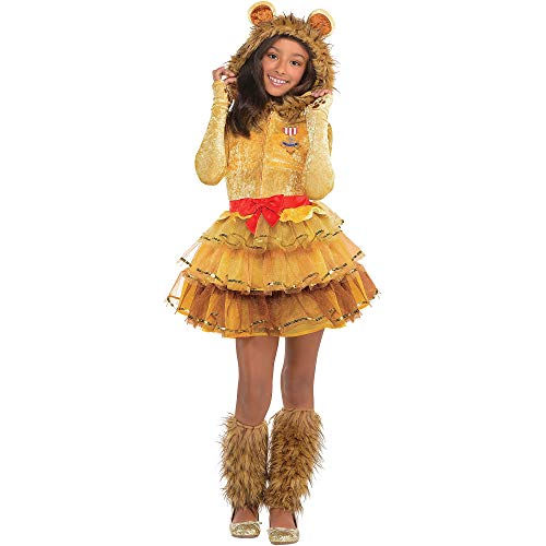 Suit Yourself Cowardly Lion Halloween Costume for Girls, Wizard of Oz, Medium, Includes Accessories]()