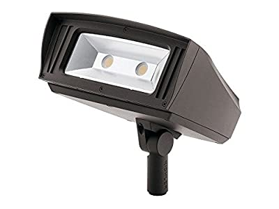 "Kichler Lighting 16225AZT40 C-Series - 7"" 85W 4000K 1 LED Knuckle-Mount Outdoor Large Flood Light, Textured Architectural Bronze Finish"