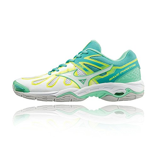 Mizuno Wave Phantom NB Women's Netball Shoes - AW17 Green VXHgvA