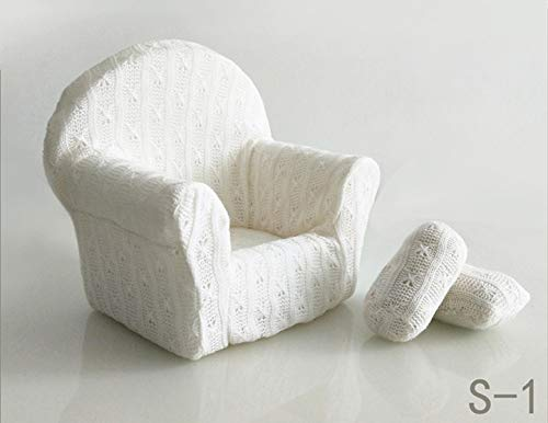 Dvotinst Newborn Photography Props, Soft Posing Mini Sofa Poser Arm Chair for Baby Photo Shooting, Studio Accessories (S1, 0-1 Month)