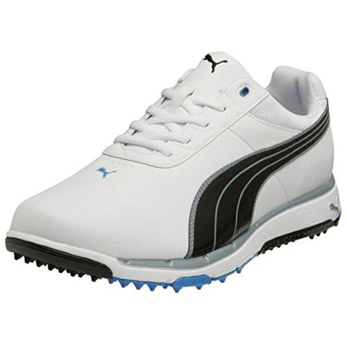 Aster Black Leather (PUMA Men's Faas Grip 2.0 Golf Shoe,White/Black/Blue Aster,7 M US)