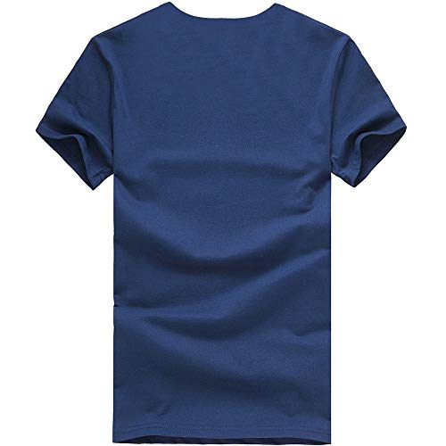 Eolgo Mens T-Shirt, Plus Size Thinking Creative Print Blouse, Fashion Summer Sport Casual Tops Navy by Eolgo (Image #3)