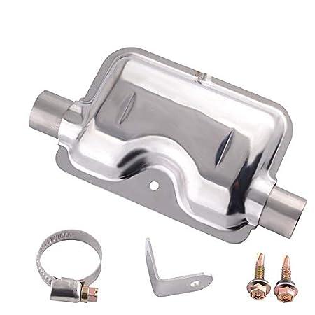 XFC-PAIQI Color : Exhaust Muffler 60cm de escape de 24 mm de tubo de la manguera de gas Cami/ón port/átil coche tubo de escape del silenciador Silenciador abrazaderas soporte Calentador Diesel Para