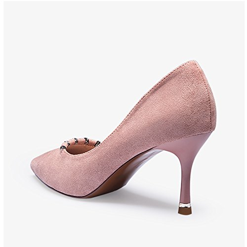 Punte Un Da Eleganti Donna Primaverili Scarpe 36 Alti Di Ed Tacchi Modello dimensioni Unico JIANXIN E Sexy Colore Da Donna Rosa Con Estive Con Scarpe 5wEXqw8nRO