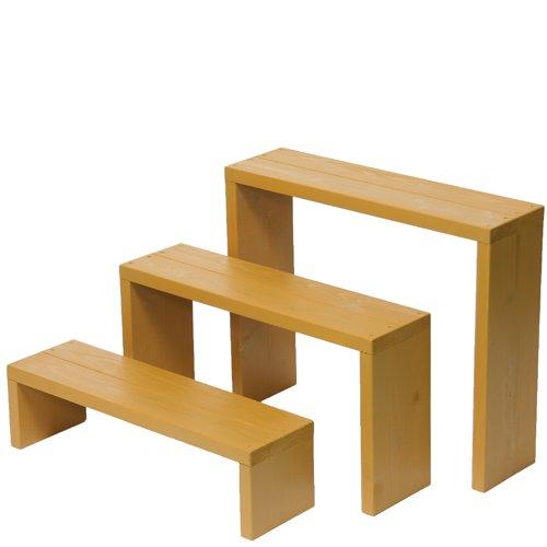 Welcome wood ウッドステージ66型 3段タイプ   色はブライトブラウン(BB) 【完成品】 組み立てる必要なし!! 個別に移動できるのでとっても便利!! B00F3TDFPA 66cm3段タイプ|BBブライトブラウン BBブライトブラウン 66cm3段タイプ