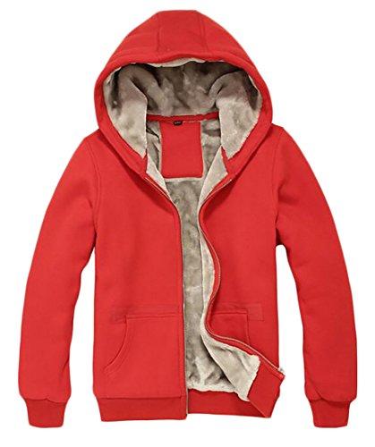 Warm Sweatshirt Wool today Red Coats Men's Jackets Thick Fleece UK Winter Hooded SA0Y0q8Fw