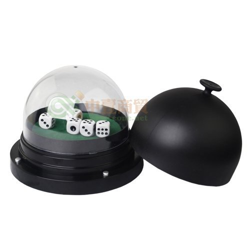 SmartDealsPro Large Automatic Professional Dice Roller Cup Domes Battery Powered with 5 (Dice Roller)