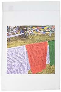 3dRose fl _ 70295_ 1bhután, Trade la, banderas de oración en la montaña forestas04bth0016brenda Tharp bandera de Jardín, 12por 18pulgadas