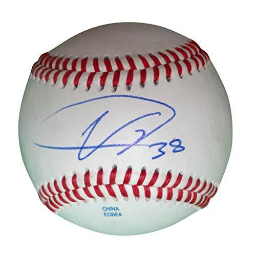 Colorado Rockies Ubaldo Jimenez Autographed Hand Signed Baseball with Proof Photo of Signing and COA, Cleveland Indians, Baltimore Orioles