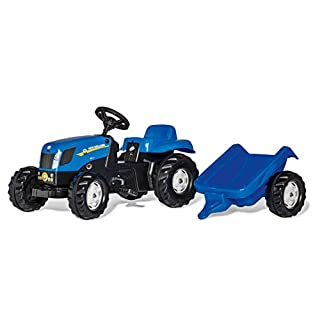 Rolly Toys New Holland Kid-X Tractor, Blue