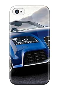High-quality Durable Protection Case For Iphone 4/4s(audi Ttrs Blue Front)