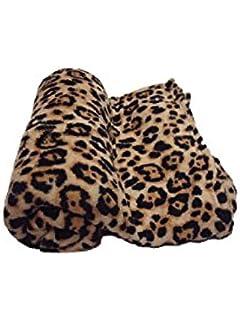 amazon com fancy collection animal print fleece super soft blanket