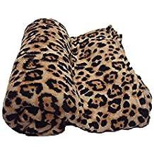 MarCielo Fleece Blanket, Super Soft Warm Fleece Throw Blanket Lightweight Blankets Couch Throw, Cozy Coral Throw Bed Blanket, 50 x 60 Inch Leopard Print