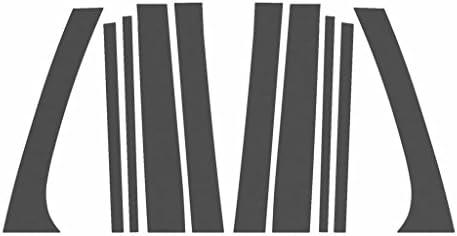 Ferreus Industries Matte Flat Black Pillar Post Trim Cover fits 20022009 GMC Envoy All Models PIL105MB