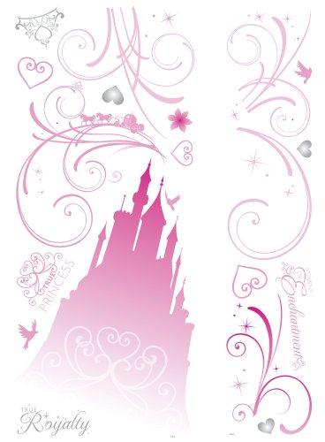 RoomMates RMK2168GM Disney Princess Scroll Castle Peel and Stick Giant Wall Decals, 1-Pack