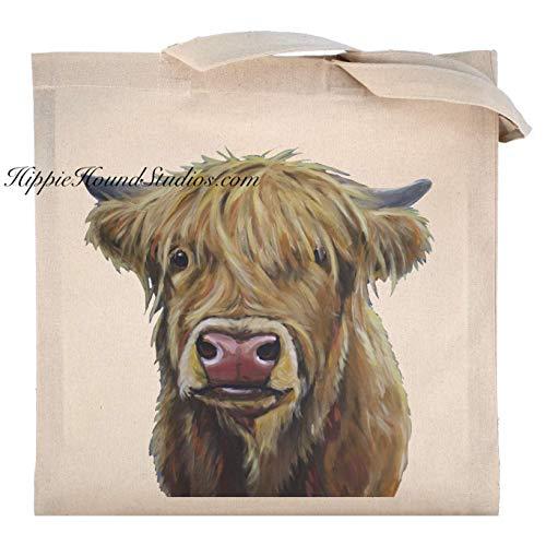 Scottish Farm - Scottish Highland Cow Tote Bag, Highland Cow Gifts