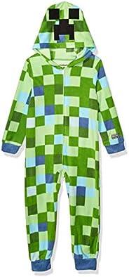 Minecraft Boys Hooded Blanket Sleeper Pajama Set