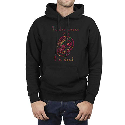 (DFHho in Dog Years I'm Dead? Hoodies for Mens Cool Fleece Sweatshirts Black Pullover Hoodie with Novelty Designs)