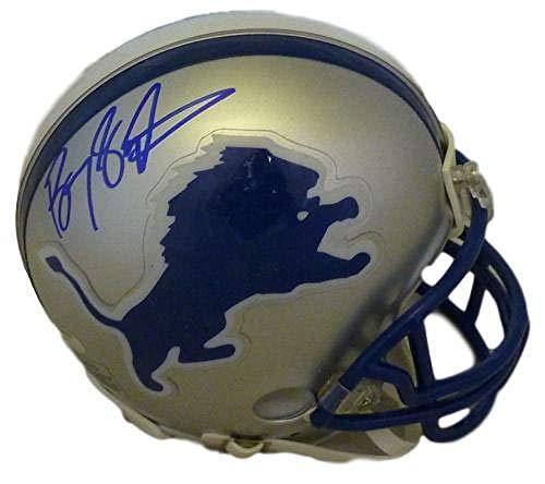 Barry Sanders Autographed/Signed Detroit Lions TB Mini Helmet JSA