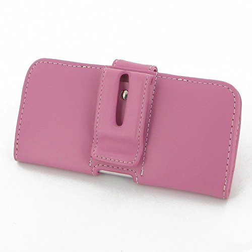"Apple iPhone 6 (4.7"") Leather Case / Cover Protective Carrying Phone Case / Cover (Handmade Genuine Leather) - Horizontal Pouch Case (Petal Pink) by Pdair"
