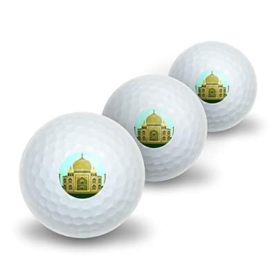 Graphics and More India Taj Mahal - Travel Novelty Golf Balls 3 Pack
