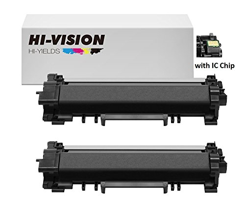HI-VISION HI-YIELDS Compatible Brother TN770 [With IC CHIP] Super High Yield Black Toner Cartridge Yield up to 4,500 pages for Printer HL-L2370DW, HL-L2370DW XL, MFC-L2750DW, MFC-L2750DW XL (2 Black) by HI-VISION HI-YIELDS